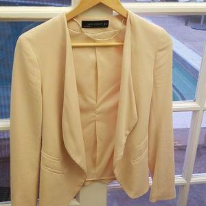 Zara XS Peach blazer